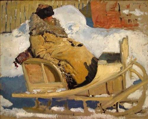Peasant in a sleigh, 1904-05