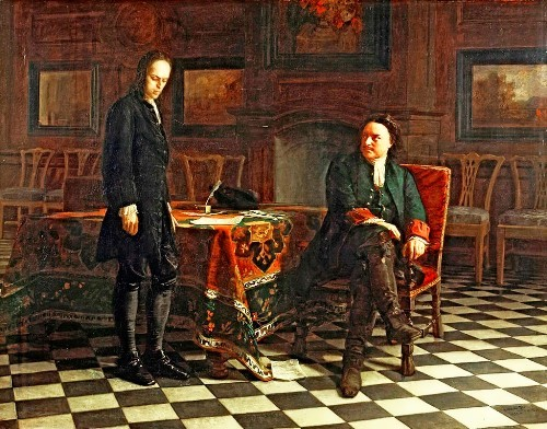 Peter the Great Interrogates Tsarevich Alexei, 1871