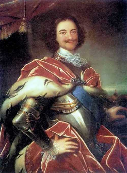Ivan Nikitin. Portrait of Peter I, 1717