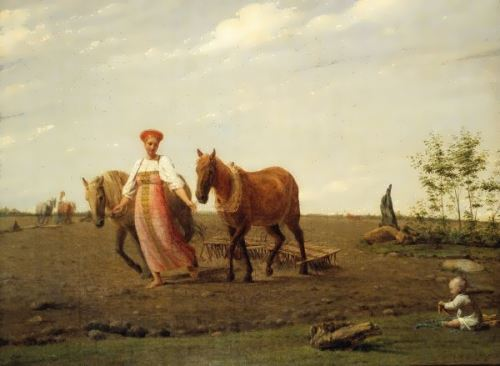Ploughing in Spring, 1830s