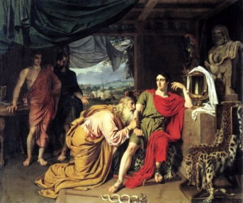 Priam Begging Achilles for the Body of Hector