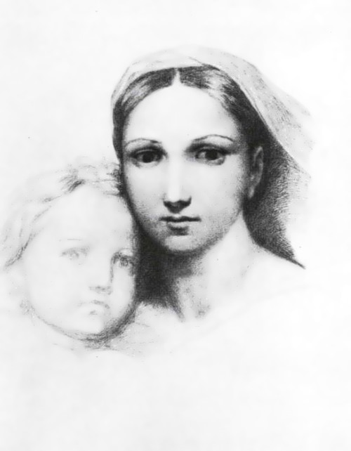 A copy of Raphael Sistine Madonna, 1830