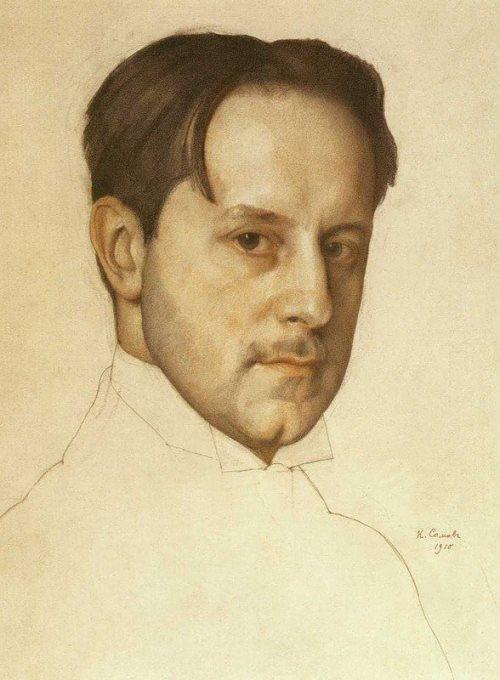 Constantin Somov. Portrait of the Artist Mstislav Dobuzhinsky