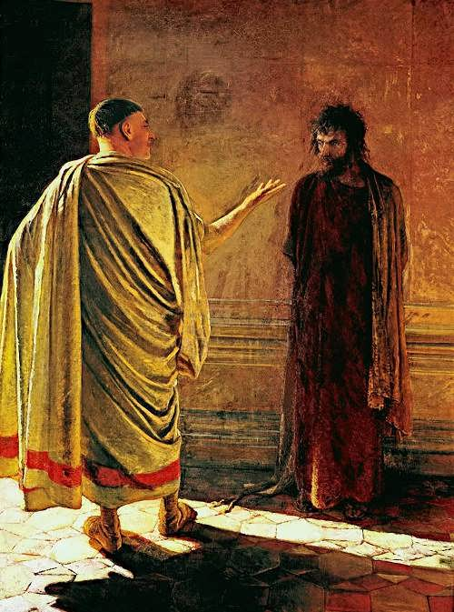 What is the truth? Christ and Pilate. 1890