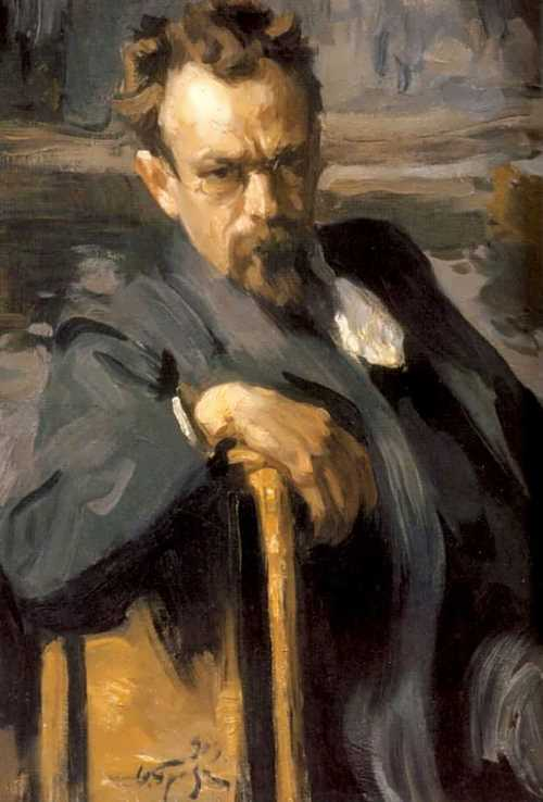 Osip Braz. Portrait of Sergey Ivanov, 1903