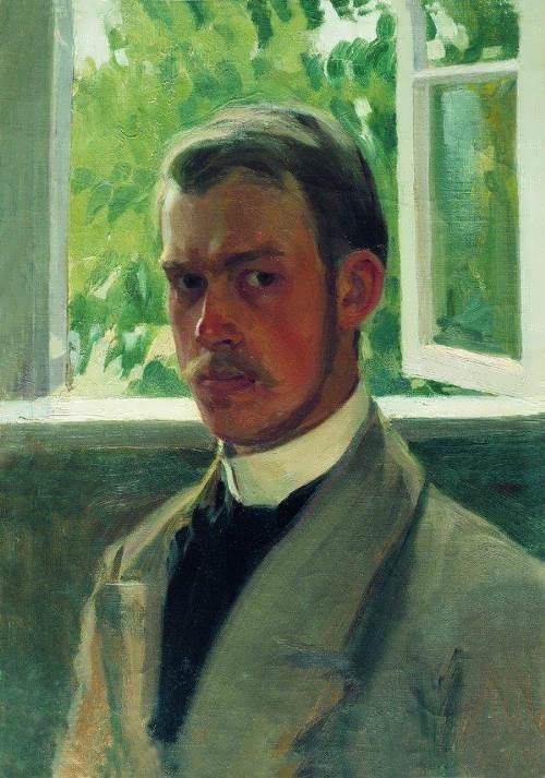 Boris Kustodiev. Self-portrait at the window, 1899