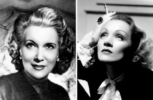Lyubov Orlova and Marlene Dietrich