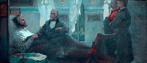 K. Kuznetsov. N. Pirogov visits Giuseppe Garibaldi