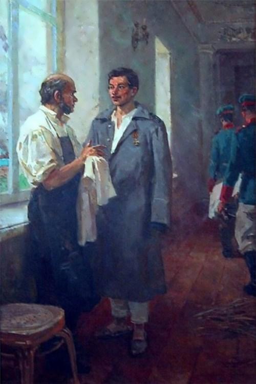 L. Koshtelyanchuk. Pirogov and sailor Peter Koshka.
