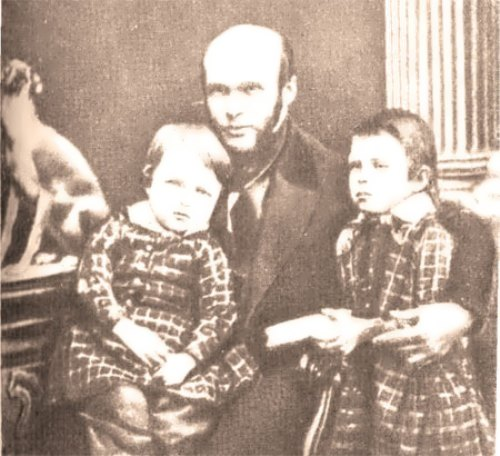 Pirogov and his sons, 1850