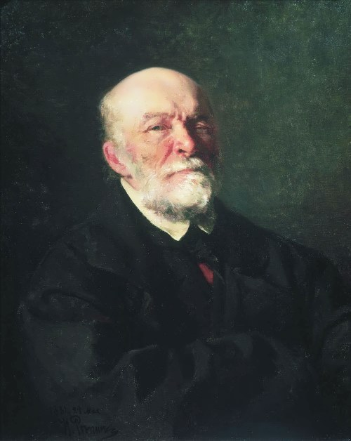 Ilya Repin. Portrait of the Surgeon Nikolay Pirogov, 1881