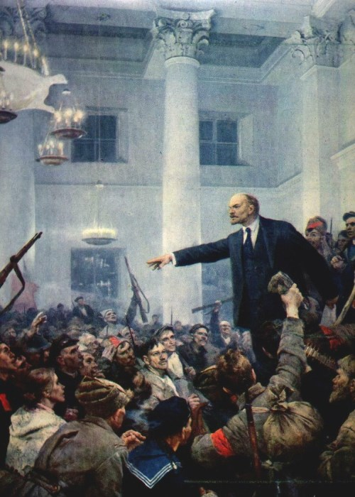 V. Serov. Lenin proclaims Soviet power. 1962