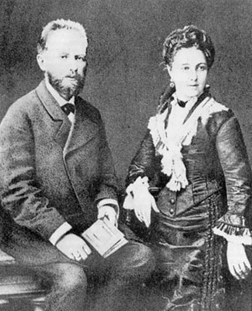 Tchaikovsky and his wife Antonina Milyukova