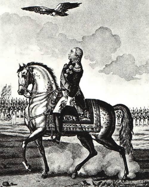 Soaring Eagle over Kutuzov before the Battle of Borodino. Unknown artist