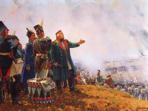 Kutuzov on the battlefield