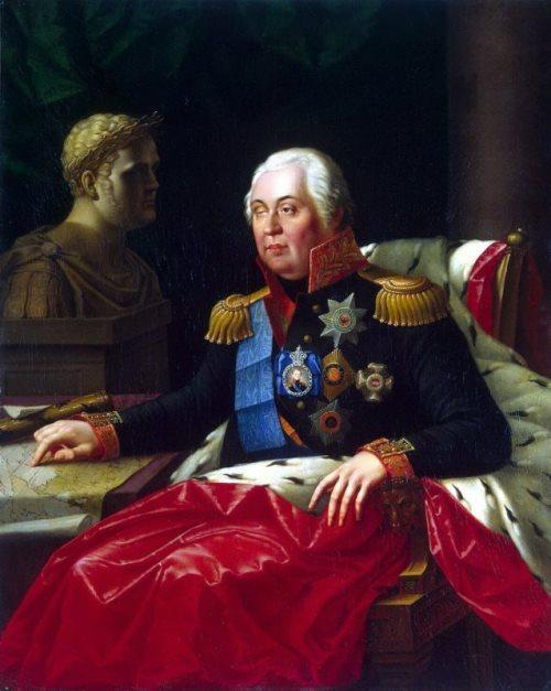 Mikhail Kutuzov - Russian Field-Marshal. Portrait by Oleshkevich
