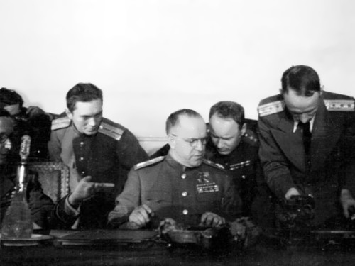 Marshal Zhukov signed the act of Germany's unconditional surrender