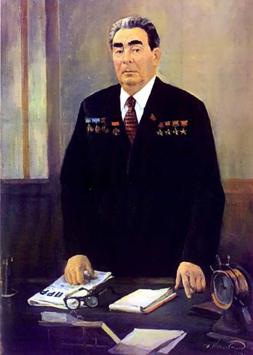 D. Nalbandian. Portrait of L.I. Brezhnev. 1980