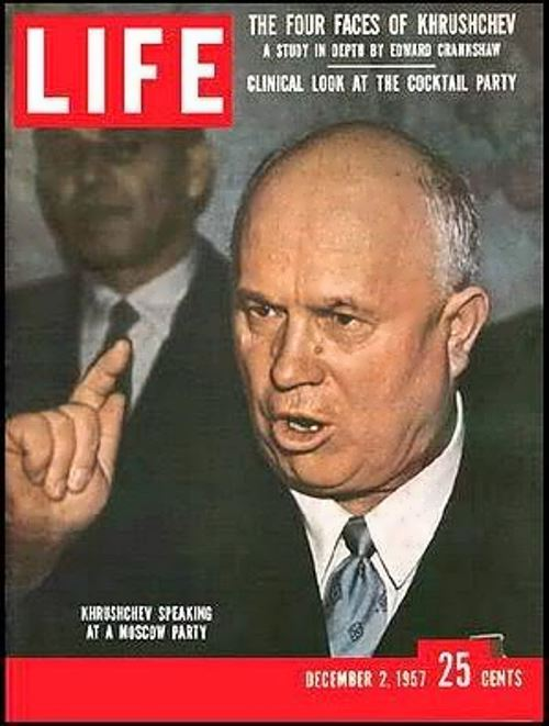Khrushchev on the cover of Life magazine