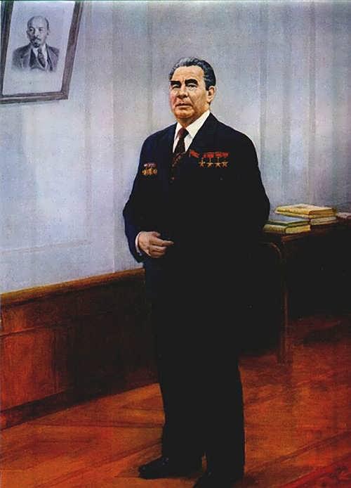 D. Nalbandian. Portrait of L.I. Brezhnev
