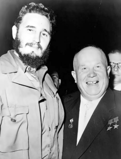 Fidel Castro and N.S. Khrushchev in 1960