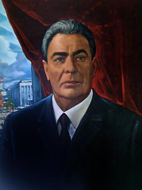 I. Glazunov. Portrait of L.I. Brezhnev