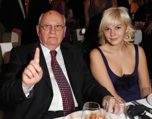 Gorbachev and his granddaughter Anastasia