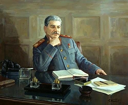 B. Karpov. Stalin in his office
