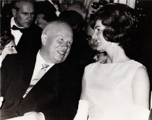 Khrushchev and Jacqueline Kennedy in 1961