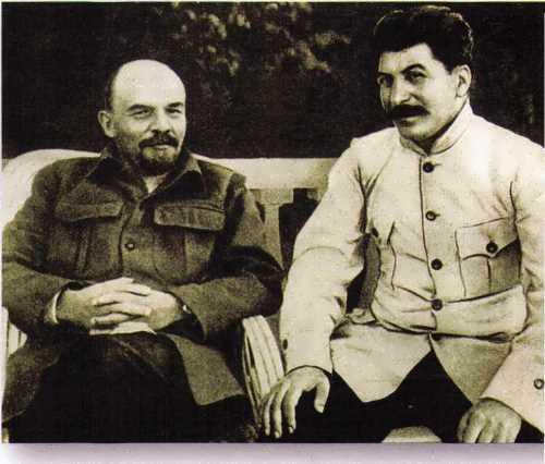 Lenin and Stalin in Gorki, 1923
