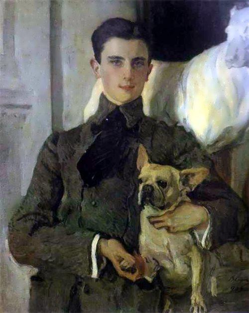 V. A. Serov. Portrait of Felix Yusupov