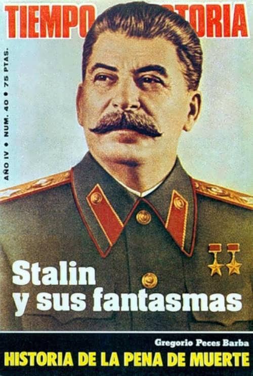 Stalin on the cover Tiempo De Historia, 1978