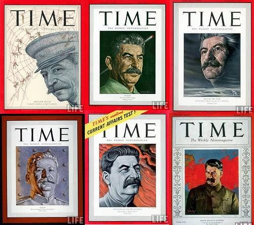 Stalin on the cover of Time magazine