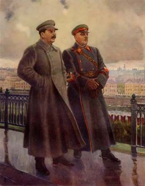 A. Gerasimov. Stalin and Voroshilov in the Kremlin, 1938