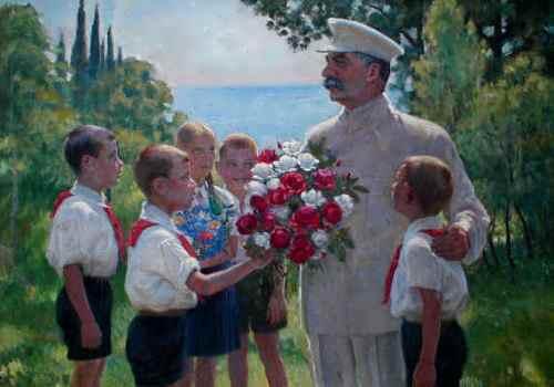 B. Vladimirsky. Roses for Joseph Stalin