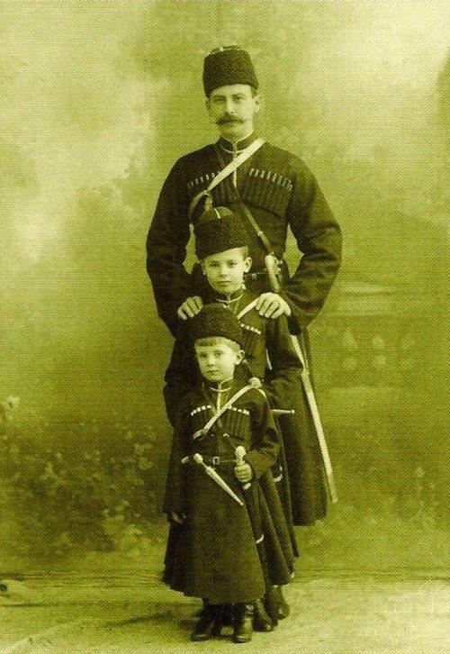 Felix Sumarokov-Elston and his sons Nikolai and Felix