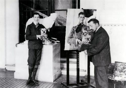 Yusupov and artist Valentin Serov