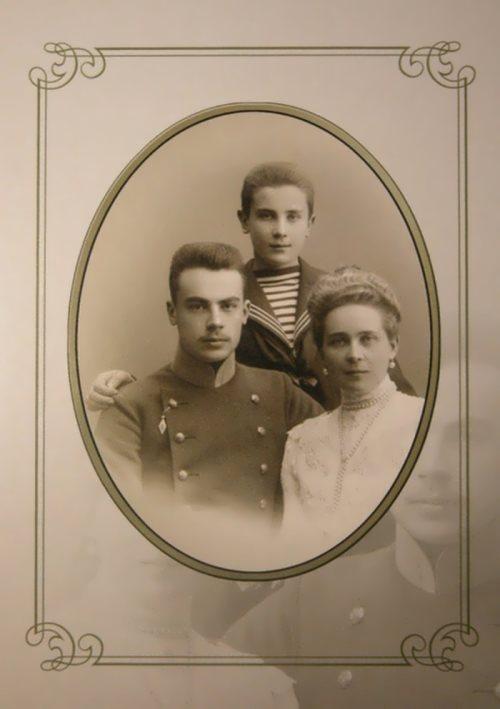 Princess Zinaida and her sons Nikolai and Felix