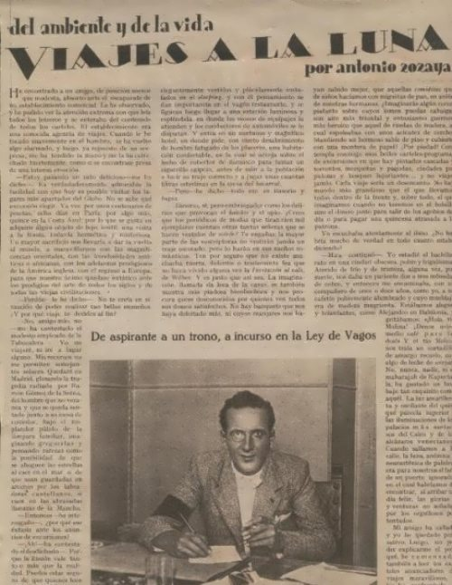 Interview to Saint-Cannes newspaper in 1938