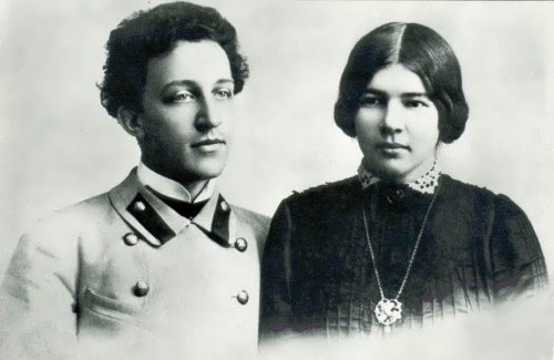 Alexander Blok and his wife Lyuba Mendeleeva