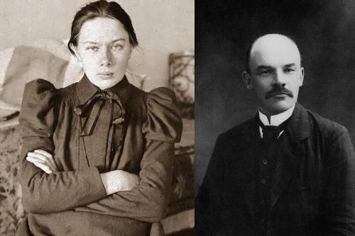 Krupskaya and Lenin