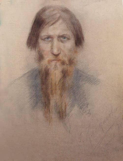 E. N. Klokacheva. Rasputin in 1914