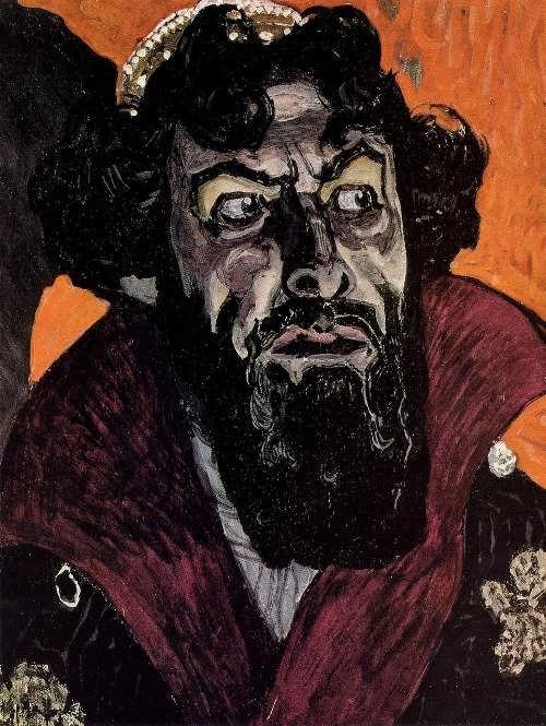 Golovin Alexander Yakovlevich. Portrait of Chaliapin as Boris Godunov. 1912.