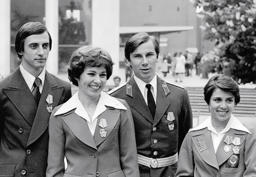 Aleksandr Gorshkov, Lyudmila Pakhomova, Alexander Zaitsev and Irina Rodnina