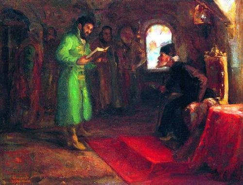 Ilya Repin, Boris Godunov with Ivan the Terrible