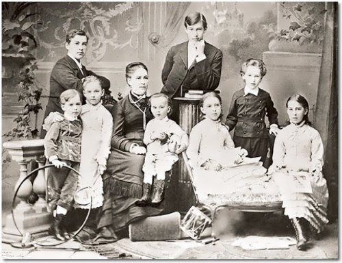 Alexeyev family. Konstantin stands in the center