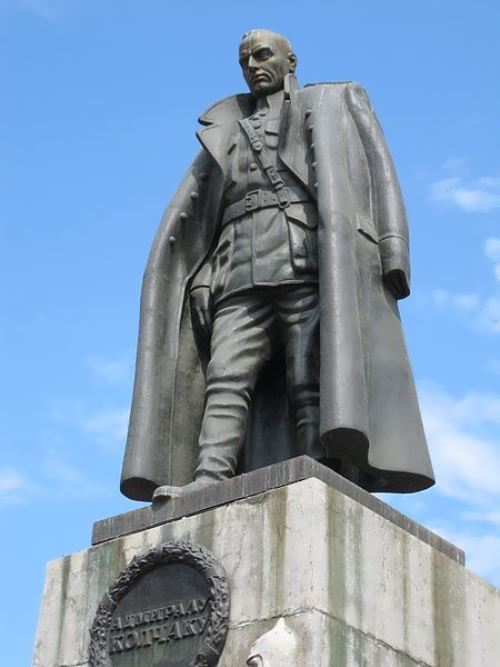Monument to Kolchak in Irkutsk