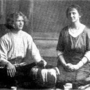 Vasily Yeroshenko and Agnes Alexander in Tokyo, 1915