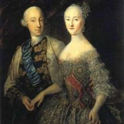 Grand Duke Peter Fedorovich (future Peter III) and Grand Duchess Ekaterina Alekseevna (future Catherine II)