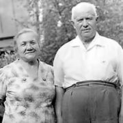 Nikita Khrushchev and Nina Kukharchuk